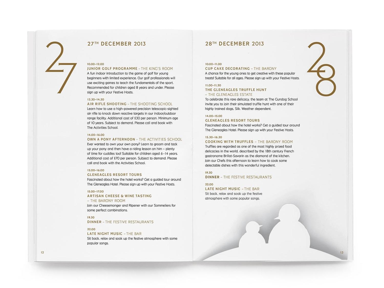 Gleneagles Christmas Hogmanay Programmes Print Ed Cornish