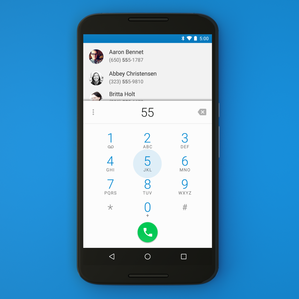 Google Dialer for Android Variable Medium