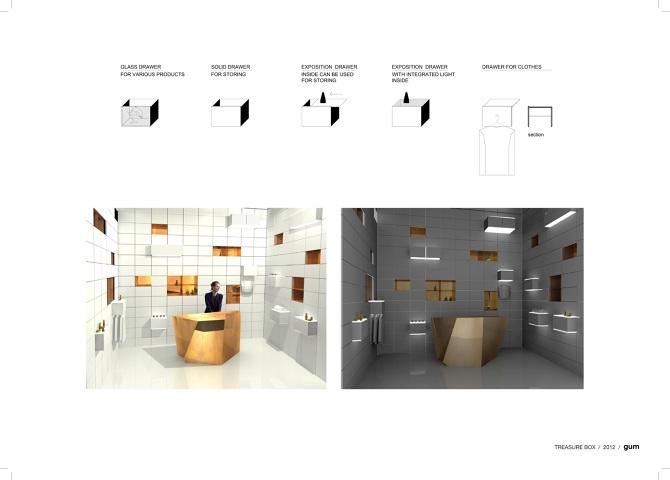 Type: Shop Interior Design; Status: Concept; Area: 10m²; Year: 2012;  Location: Doha, Qatar; Team: Giedrė Datenytė, Monika Zemlickaitė;